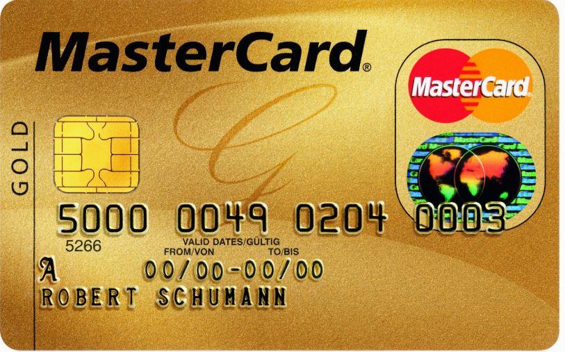 بطاقة تحتوي على ارقام ماستر كارد