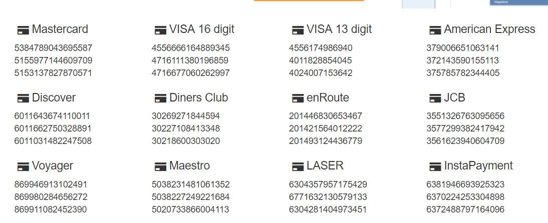 موقع توليد ارقام بطاقة الإئتمان