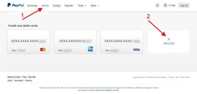 اضافة البطاقة الإفتراضية على حساب الباي بال