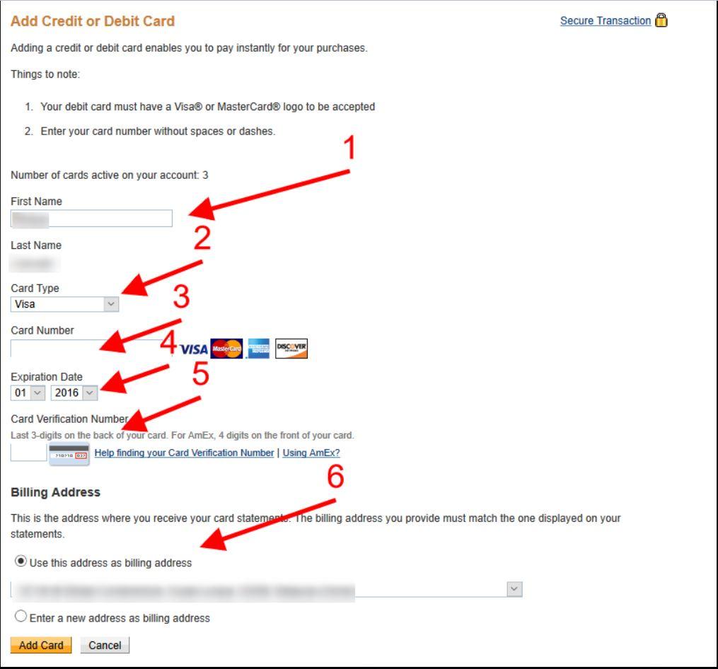 اضافة بطاقة الفيزا الإفتراضية لحساب الباي بال