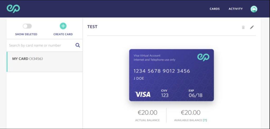 انشاء بطاقة فيزا افتراضية مجانية من موقع Entropay