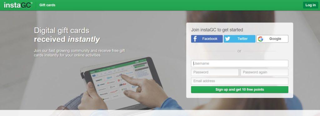 شرح موقع InstaGC من اجل الحصول على بطاقات جوجل بلاي